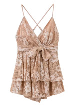 Backless Lace Romper