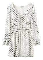 Polka Dot Flare Sleeve Dress