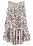 Tiered Layer Sequined Skirt