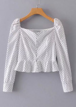 Dot Crop Blouse