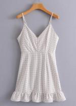 Ruffled Hem Slip Dress - Size M