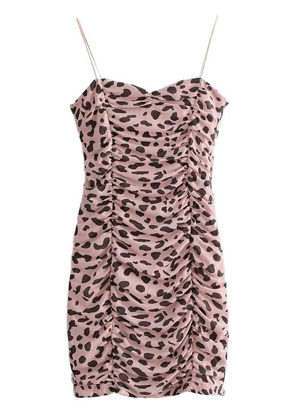 Leopard Ruffle Bodycon Dress
