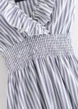 Frill Strap Stripe Romper