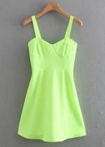 Slip Dress in Lime Green