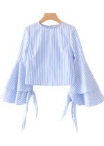 Bell Sleeve Stripe Blouse