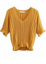Short Sleeves Knit Top