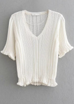 Short Sleeves Knit Top