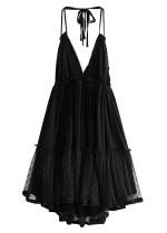 Backless Halter Mini Dress