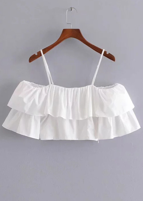 Off Shoulder Crop Top in White