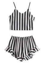 Stripe Set ( Crop Top & Shorts )