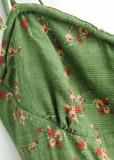 Short Dress in Green Floral