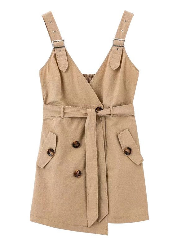 Belted Waist Tank Dress