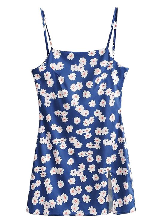 Mini Dress in Navy Floral