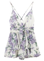 Backless Floral Romper