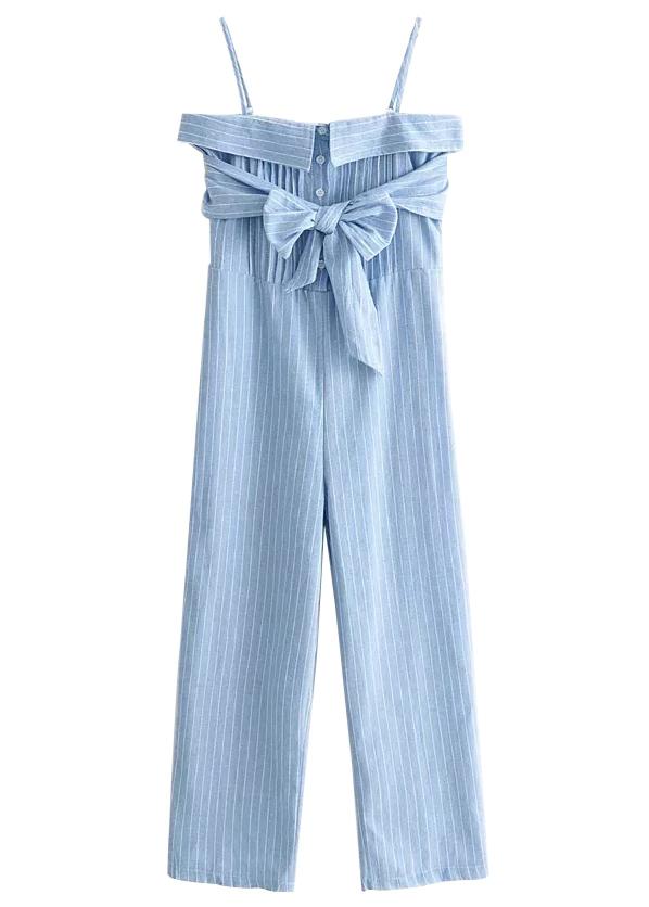 Stripe Jumpsuit in Blue