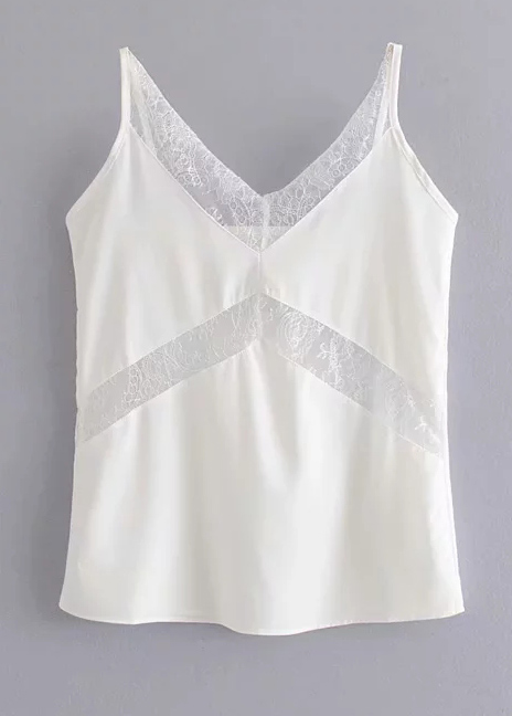 Lace Panel Cami Top ( in 2 Colors )
