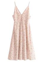 Midi Dress in Blush Floral