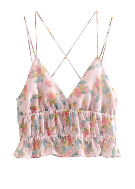 Crop Top in Blush Floral
