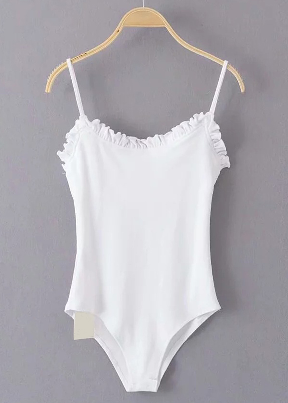 Frill Bodysuit ( in 4 Colors )