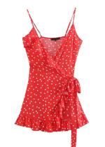 Wrap Dress in Red Dot