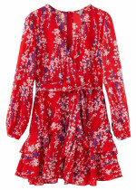 Long Sleeves Floral Dress ( in 2 Colors )