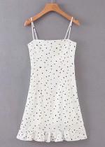 Slip Dress in White Floral