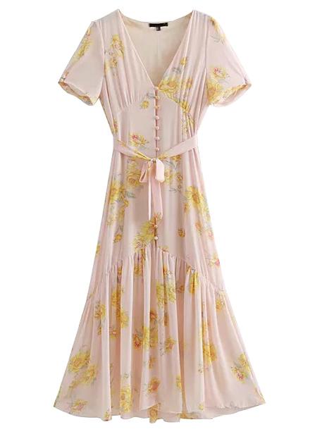 Maxi Dress in Blush Floral