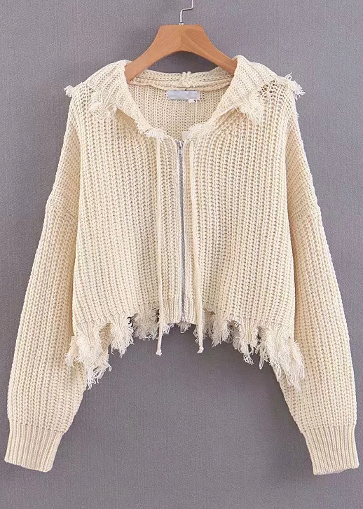 Hooded Knit Cardigan ( in 2 Colors )