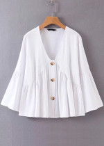 Bell Sleeves Blouse in White