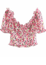 Frill Floral Top