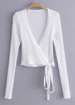 Knit Wrap Top