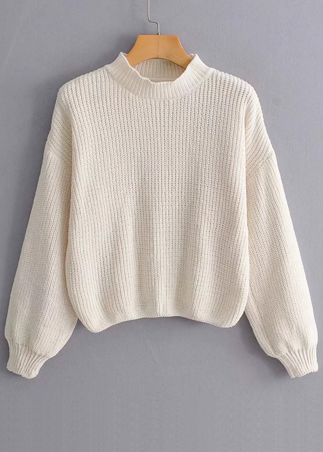 Balloon Sleeves Sweater ( in 3 Colors )