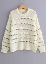 Sequins Detail Sweater in White