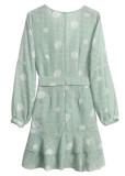 Long Sleeves Dress in Green