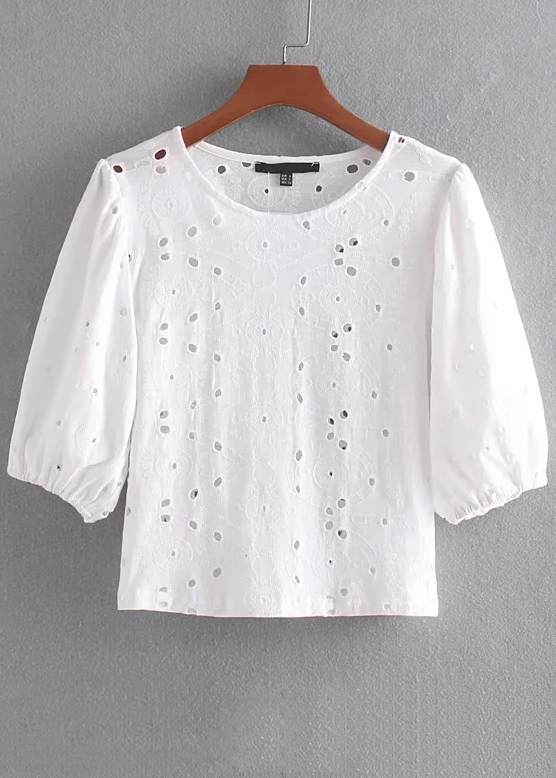 Embroidered Blouse in White