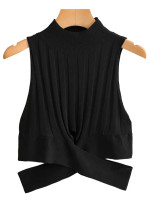 Mock Neck Knit Top ( in 2 Colors )