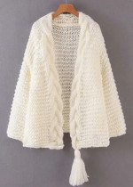 Tassel Detail Knit Cardigan ( in 4 Colors )