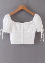 Button Front Crop Top ( in 2 Colors )