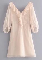 Short Dress in Blush