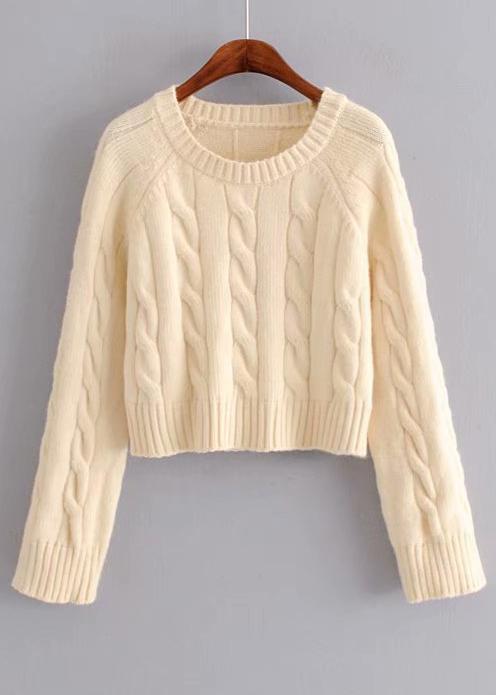 O-Neck Sweater in Cream