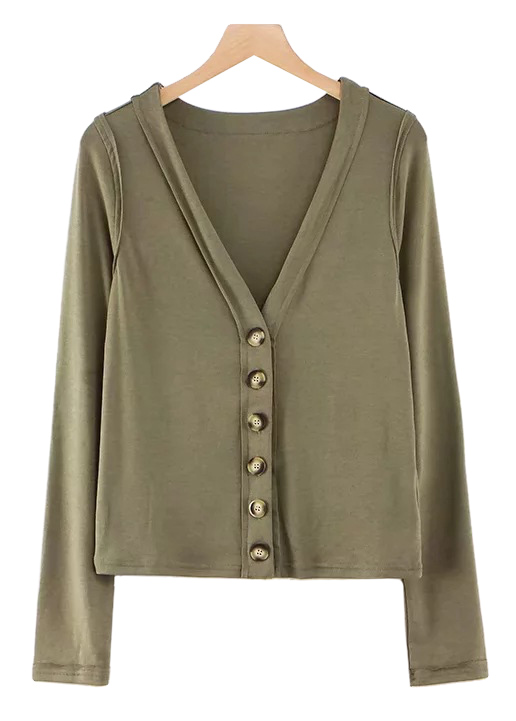 Button Front Cardigan ( in 5 Colors )