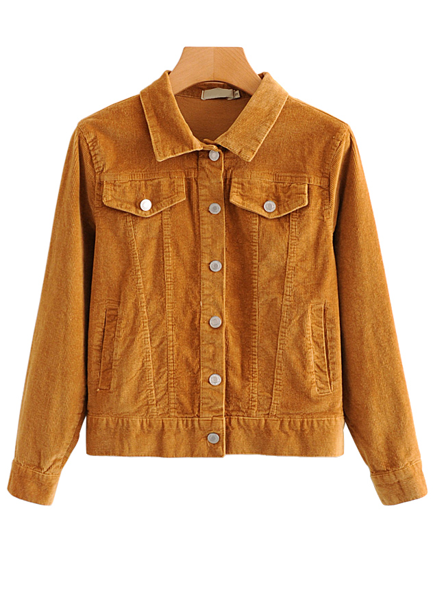 Corduroy Jacket in Tan
