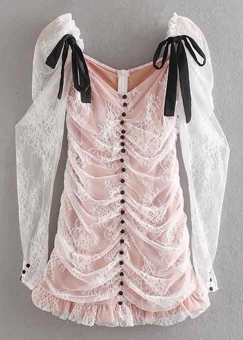 Sheer Mesh Bodycon Dress in White