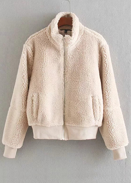 Faux Shearling Jacket ( in 4 Colors )