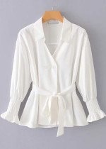 Belted Waist Blouse ( in 2 Colors )