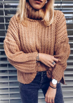 Turtleneck Sweater in Tan