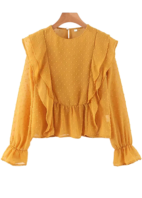 Texture Blouse in Yellow