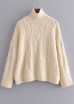 Mock Neck Sweater in Cream