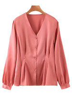 Long Sleeves Blouse in Blush