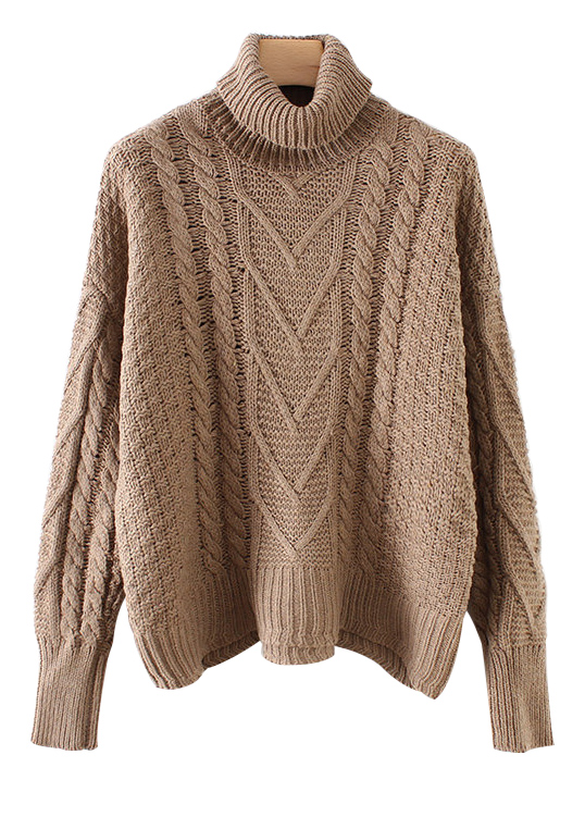 Turtleneck Sweater ( in 4 Colors )